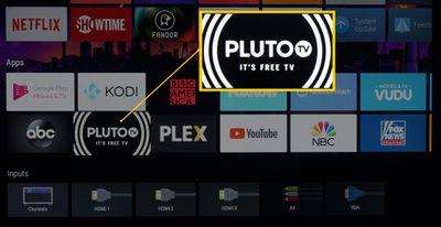 TV with Pluto TV App