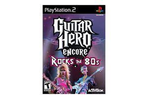 Guitar Hero Encore: Rocks the 80s PS2 box