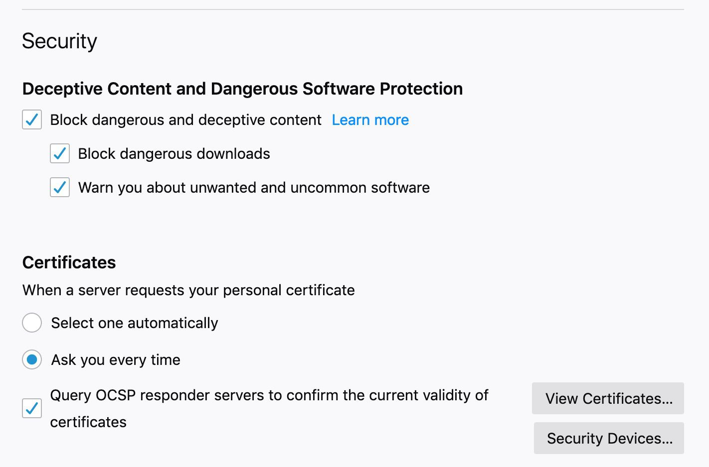 Keep your browsing experience secure in Firefox