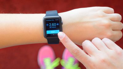 Apple Watch being used for exercise