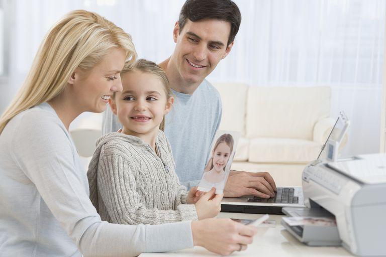 family printing photos
