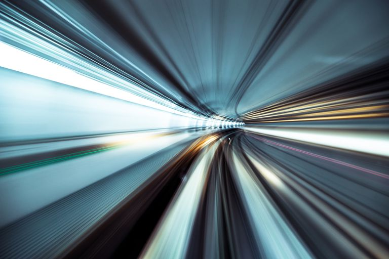 Speed and motion in tunnel
