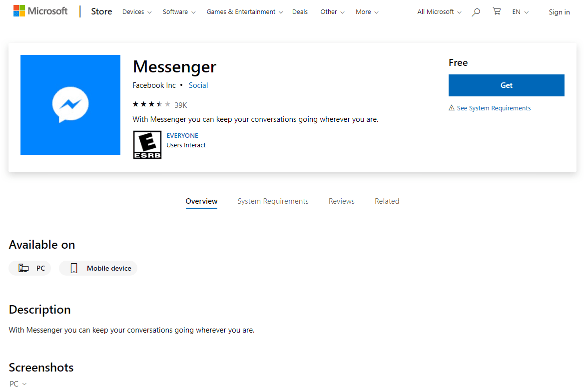 How to Download Facebook Messenger for Windows