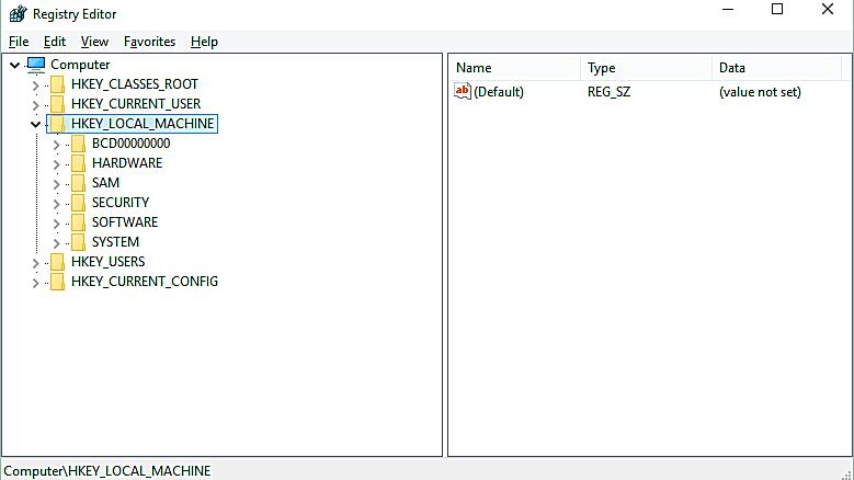import reg file current user