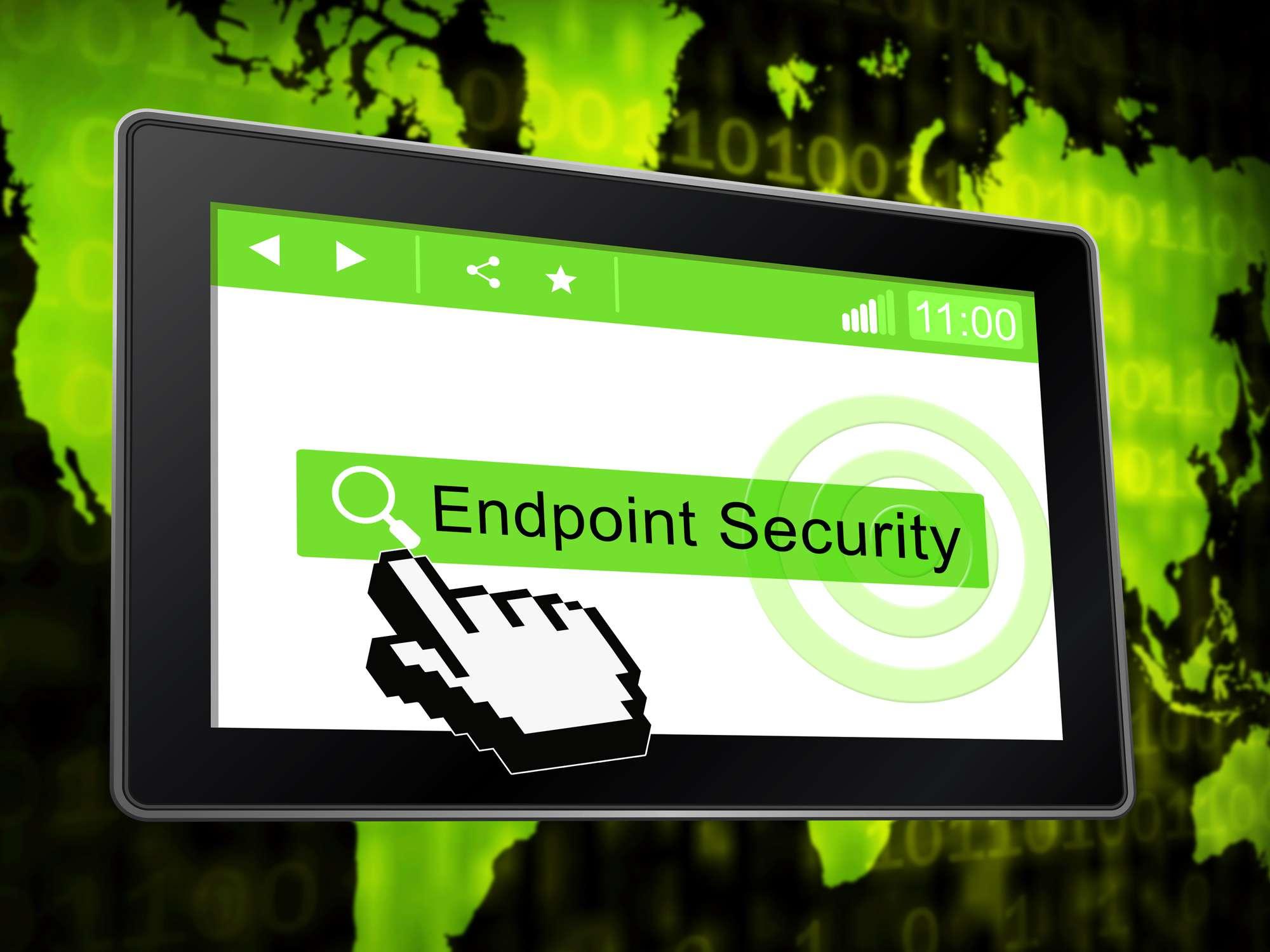 Endpoint Security Safe System Protection 3d Illustration