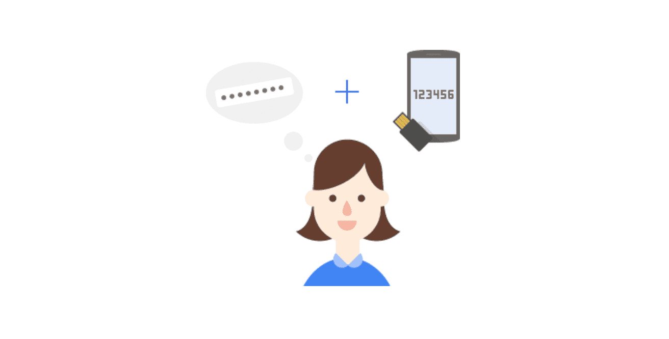 Illustration showing Google's 2-step verification on Android