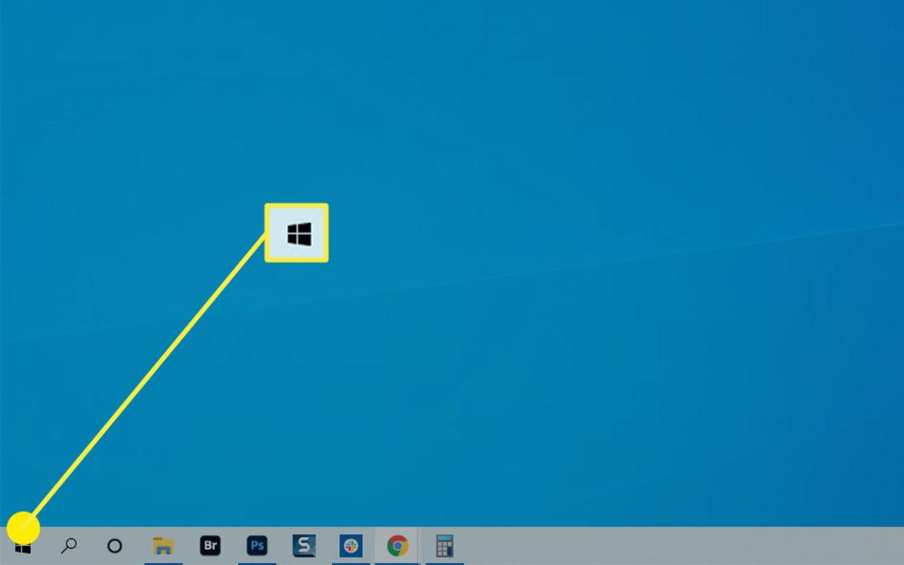 The Start Button on Windows 10.