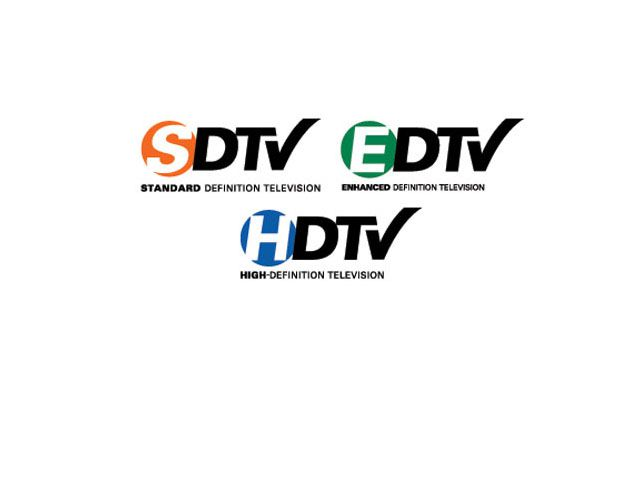FCC Official SDTV, EDTV, and HDTV Logos