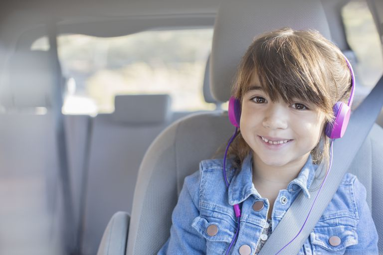Little Girl Wearing Headphones
