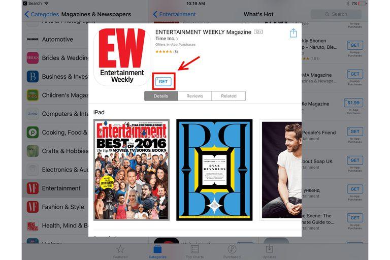 Entertainment Weekly subscription screenshot