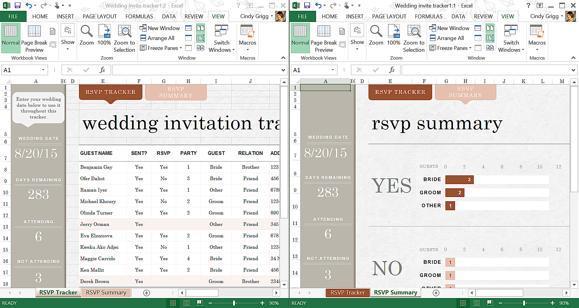 make wedding planning easier using microsoft office