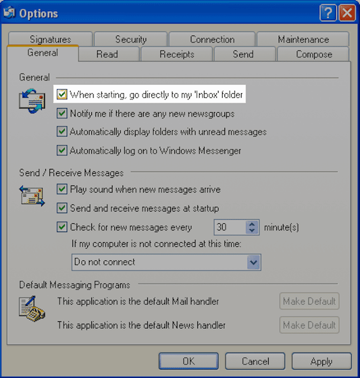 How to Start Outlook Express in Your Inbox?