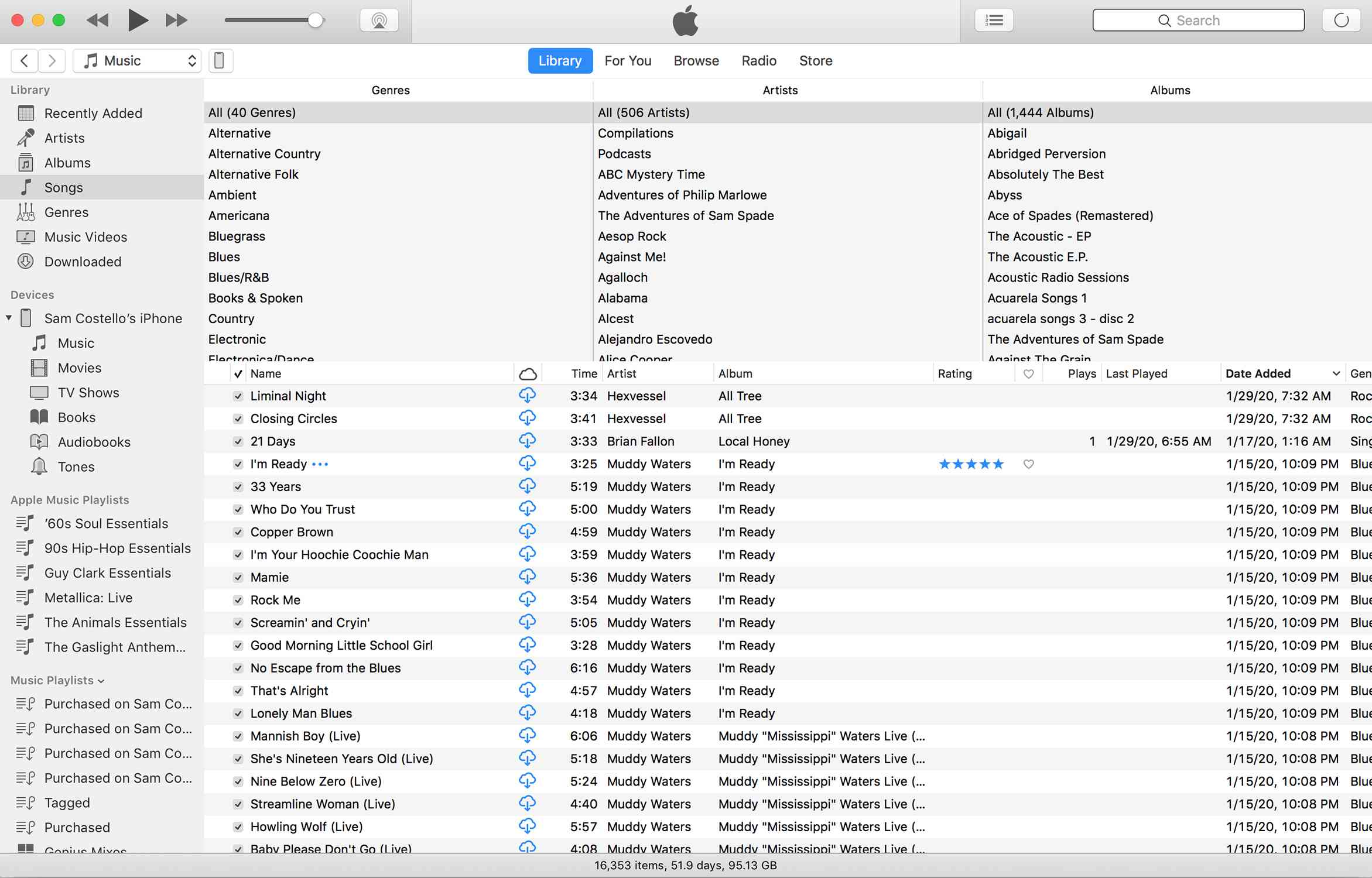 Screenshot of iTunes showing a star rating for a song