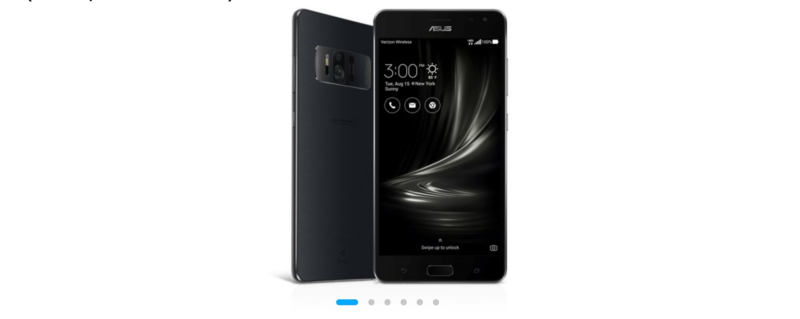 Asus ZenFone AR in black, front and back view