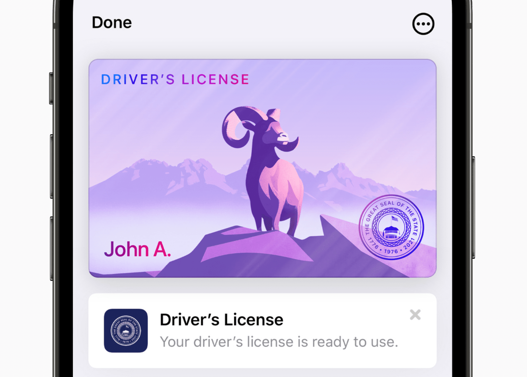 Driver's License ready to use on iOS 15