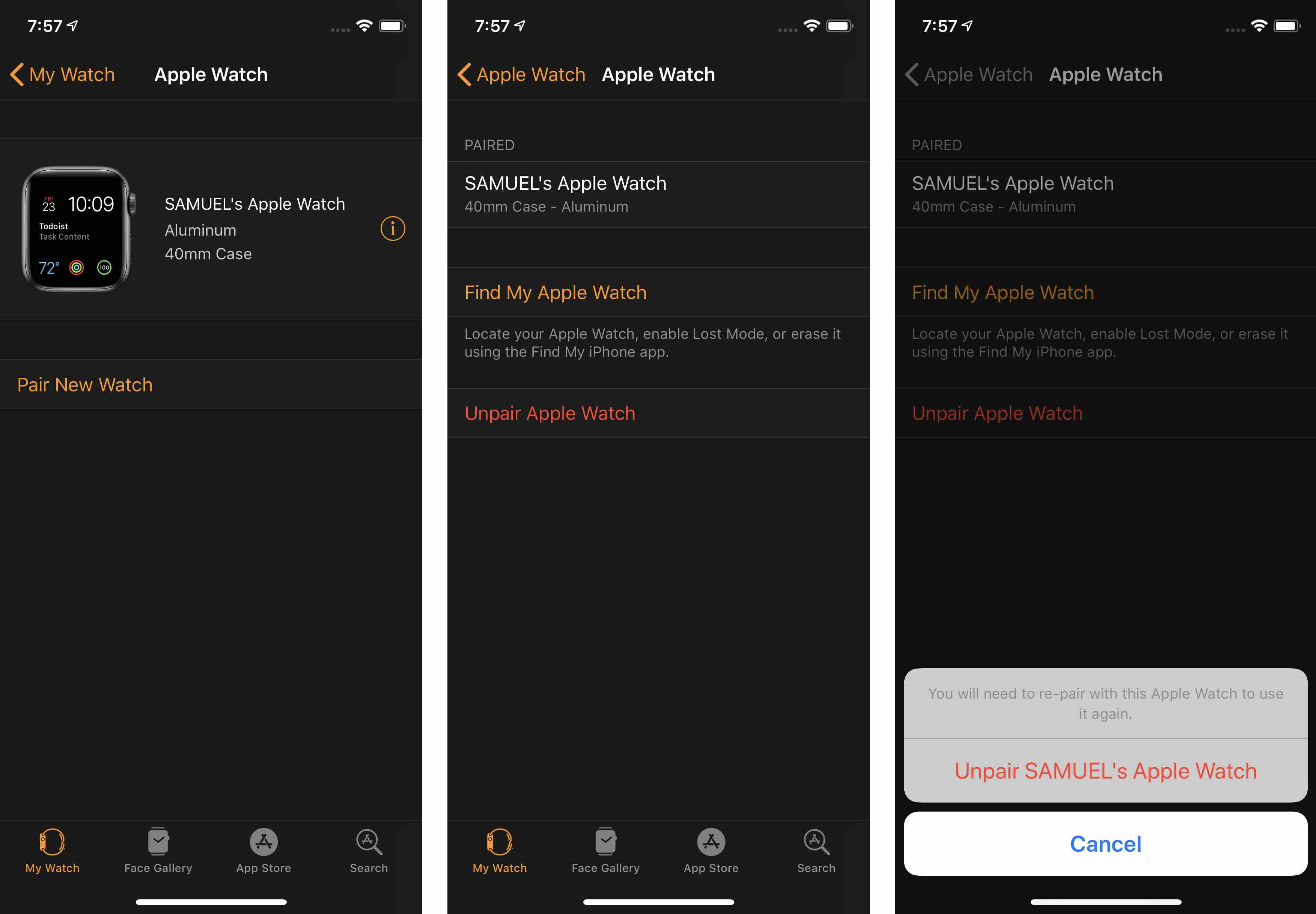 pretty nice 78554 2d5d5 How to Unpair Apple Watch and iPhone