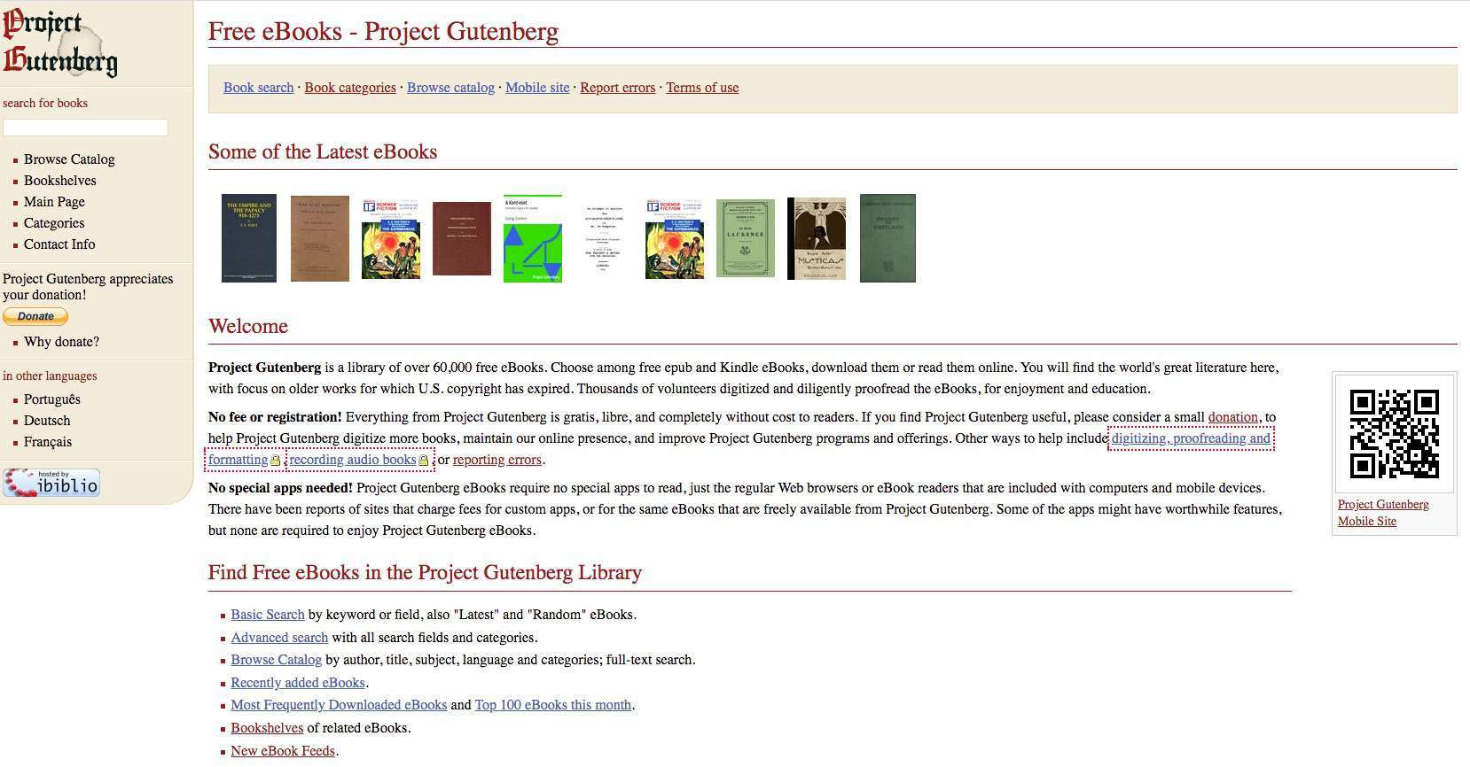 Project Gutenberg, where you can download free eBooks for the Nook