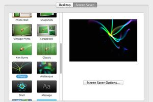 Using the Desktop & Screen Saver Preferences Pane