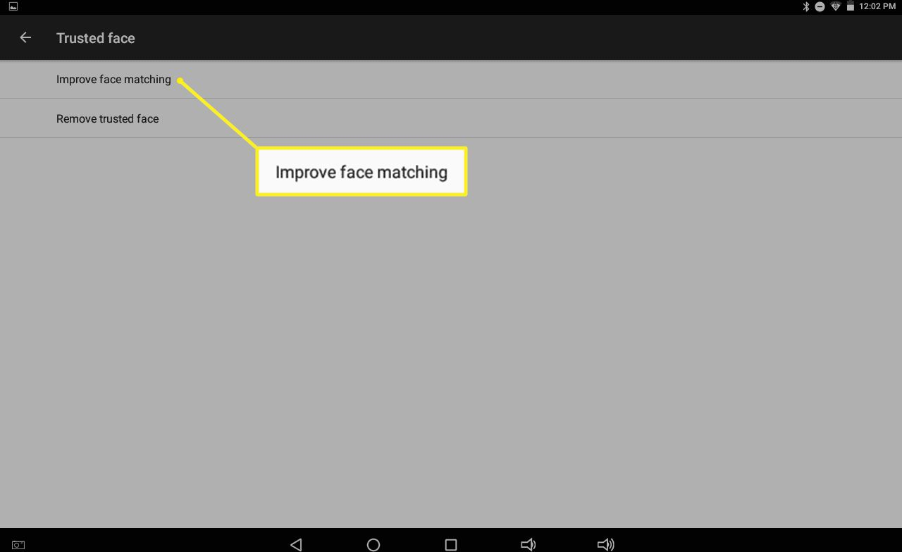 Trusted face > Improve face matching