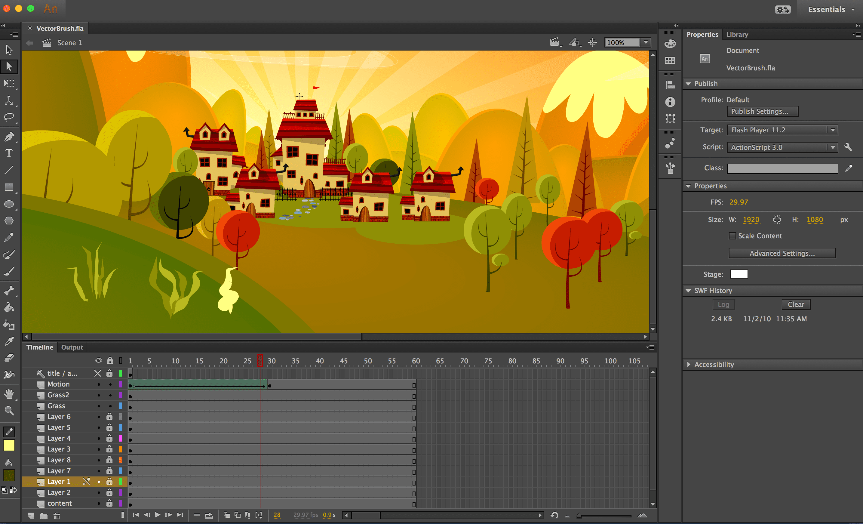 Find Out How to Use the Vector Brushes in Adobe Animate CC