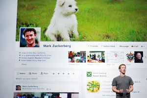 Facebook CEO Mark Zuckerberg discussing the Facebook Timeline