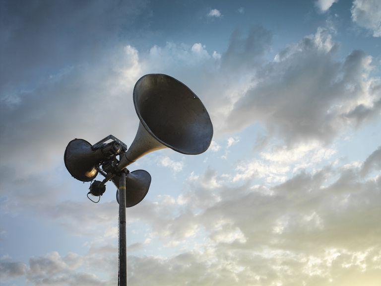 Loudspeaker in sky