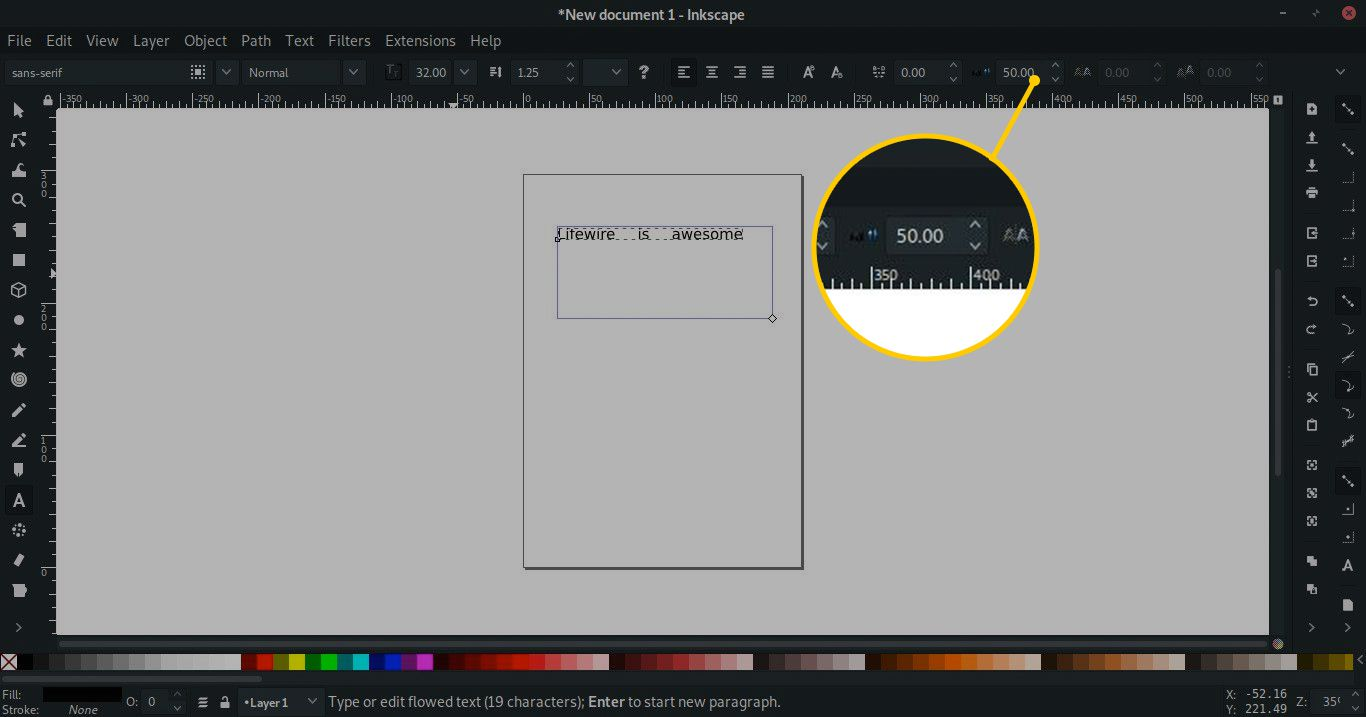 How to Adjust Text in Inkscape