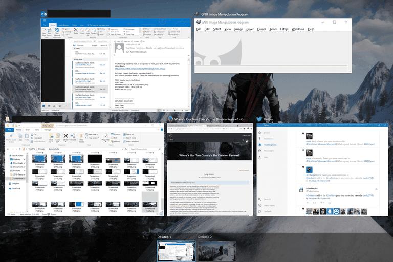 Task View in Windows 10 screenshot