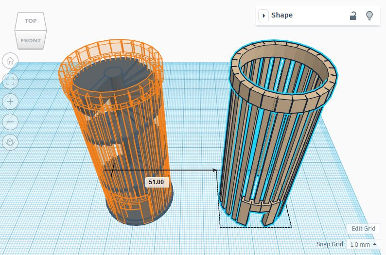 Cylinder model made with Tinkercad