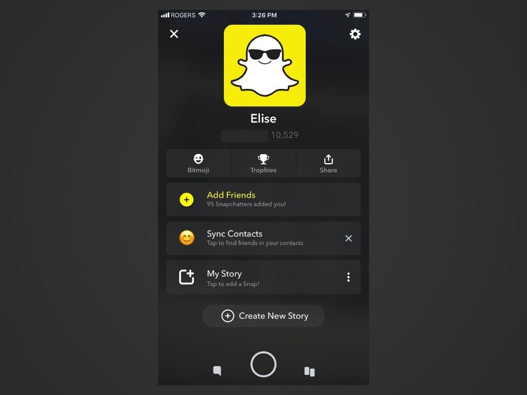 A screenshot of the Snapchat app.