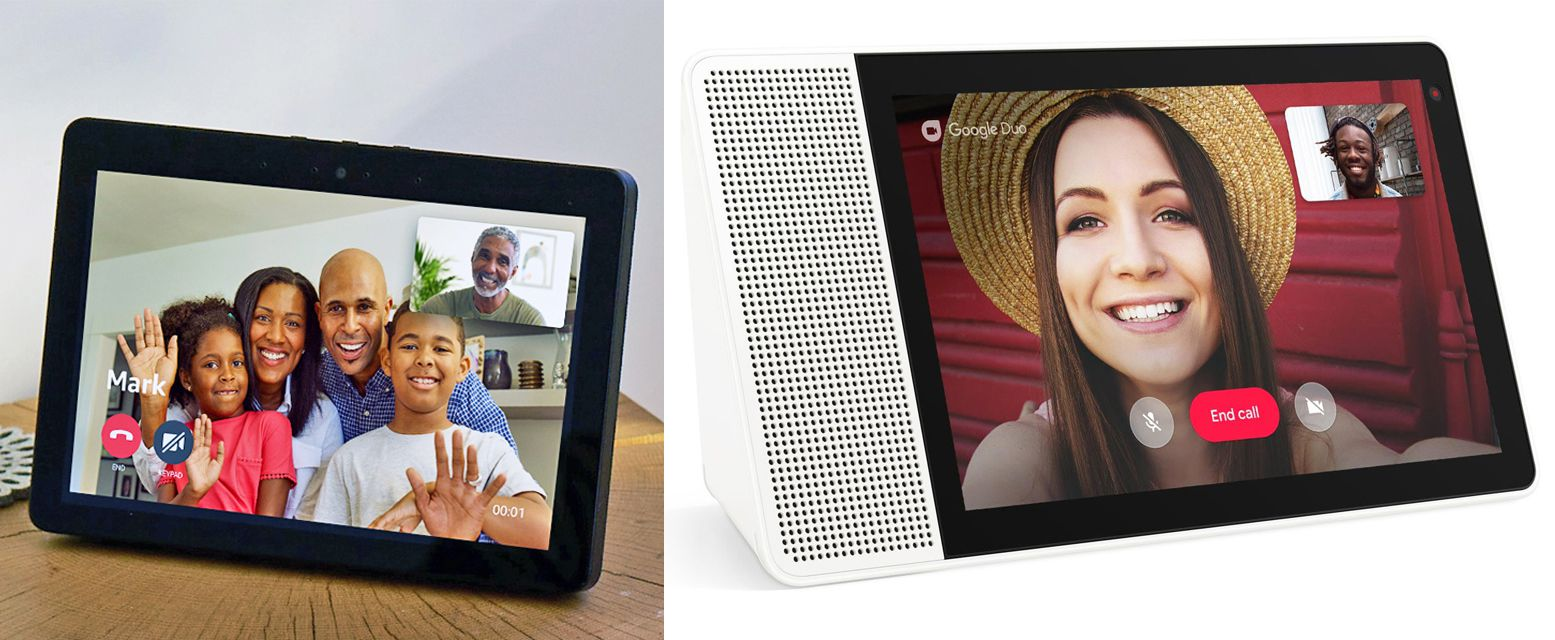 Amazon Echo Show and Lenovo Smart Display — Video Calling