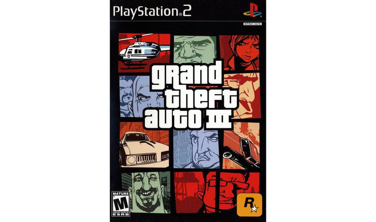 Grand Theft Auto III cover art.