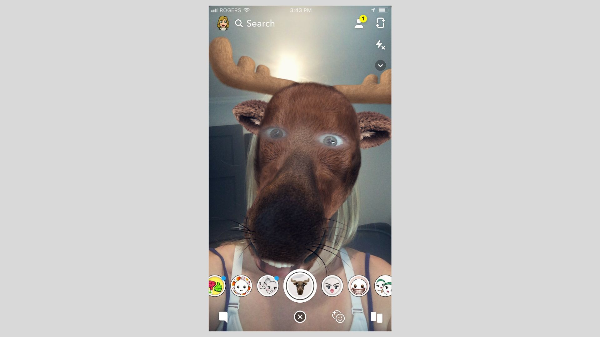 Send Crazy Selfies to Your Friends on Snapchat With Lenses