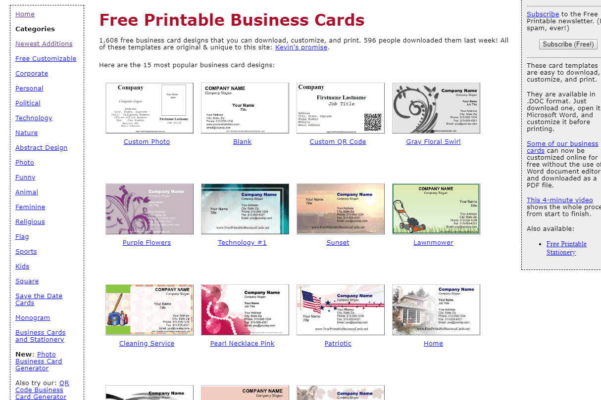 This is a photo of Monster Printable Business Cards Free