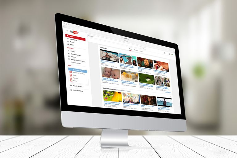 An image of the YouTube home page on a Mac.
