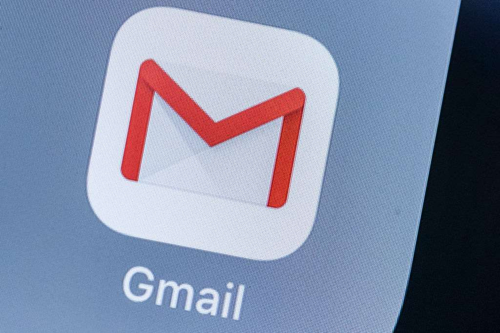 A smart phone with the icons for the Google Gmail app is seen on the screen in Hong Kong, Hong Kong, on July 31, 2018