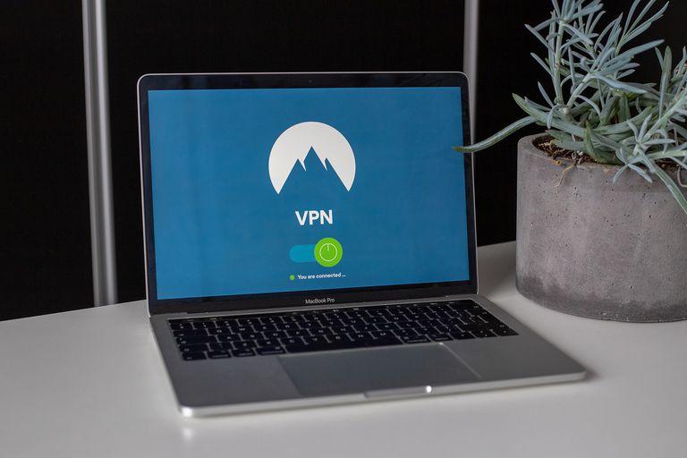 VPN logo on a laptop