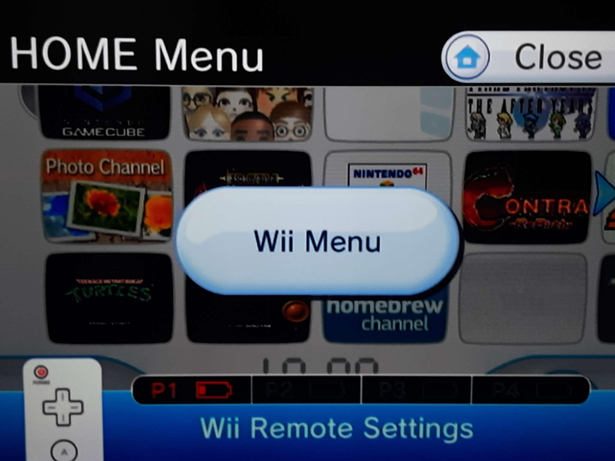 Wii Remote Settings on the Wii Home Menu