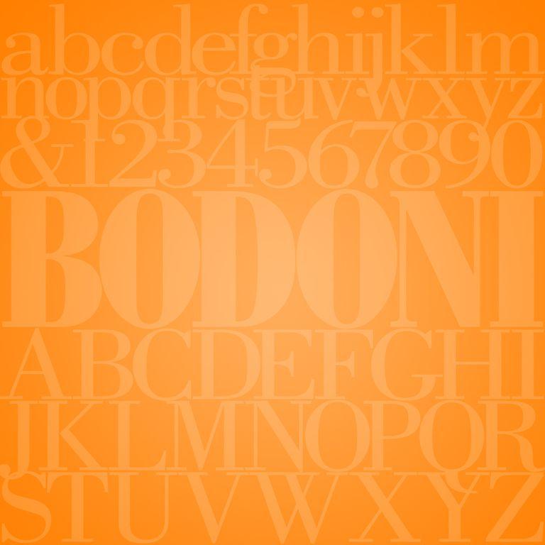 Bodoni typefac