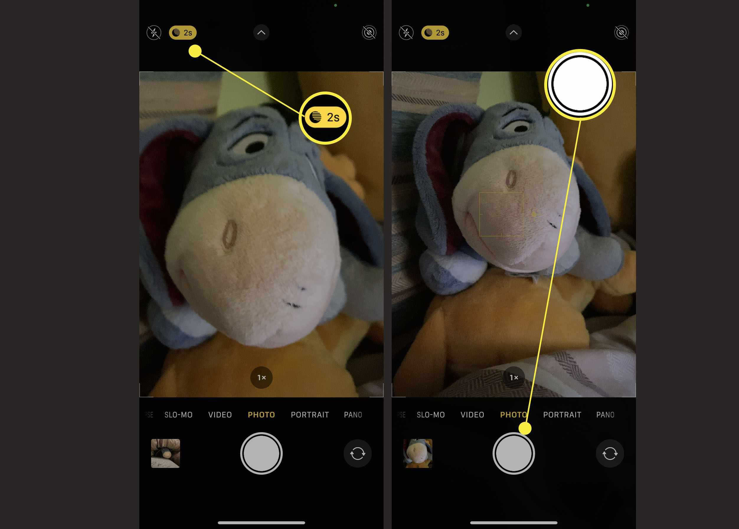 The steps required to check Night mode is on on your iPhone camera and how to take the photo
