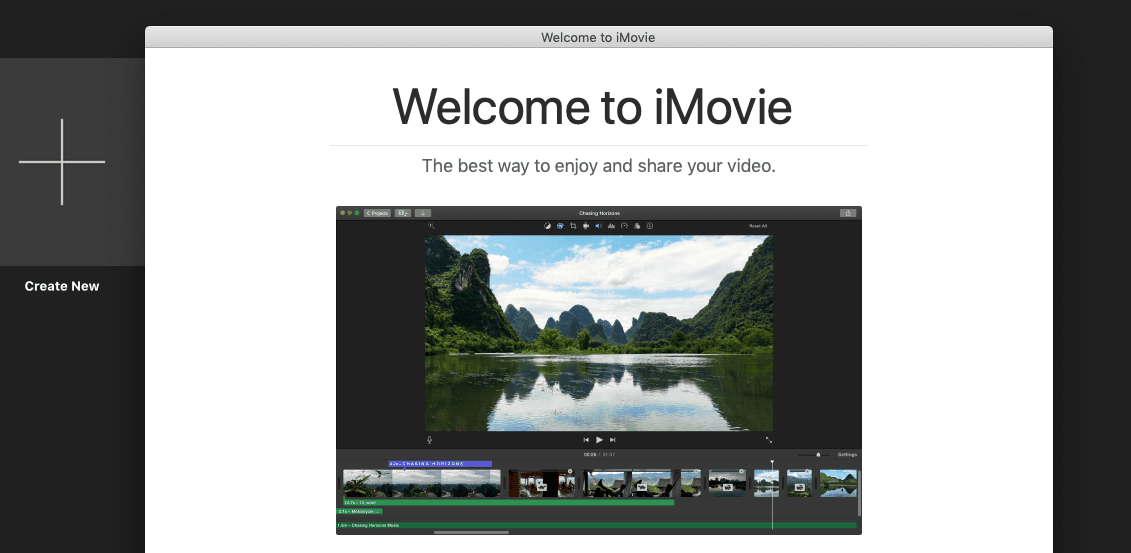 iMovie on a Mac.