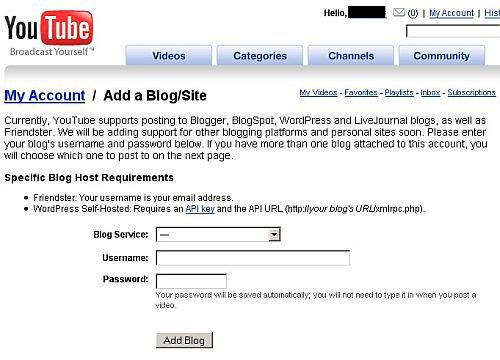 How to Link Your Blog or Website to YouTube