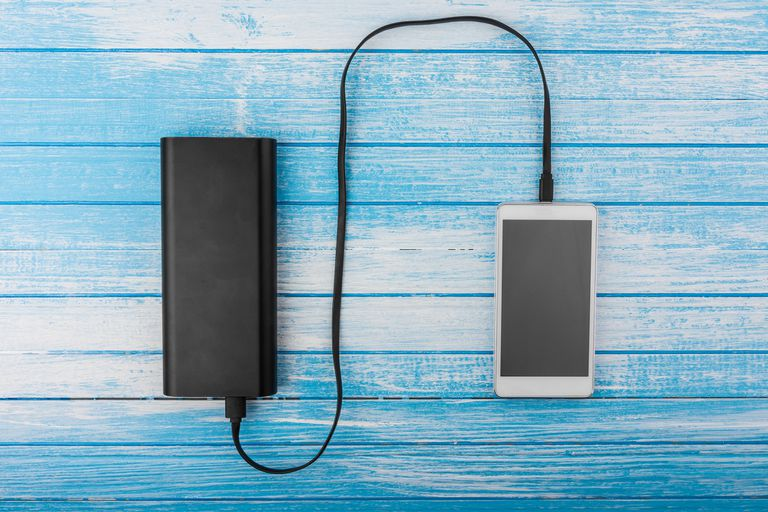 Mobile phone charging on portable power supply