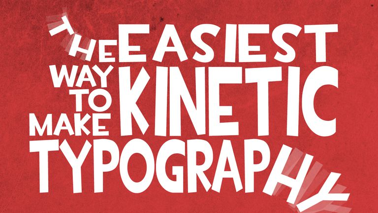 Kinetic Typography example
