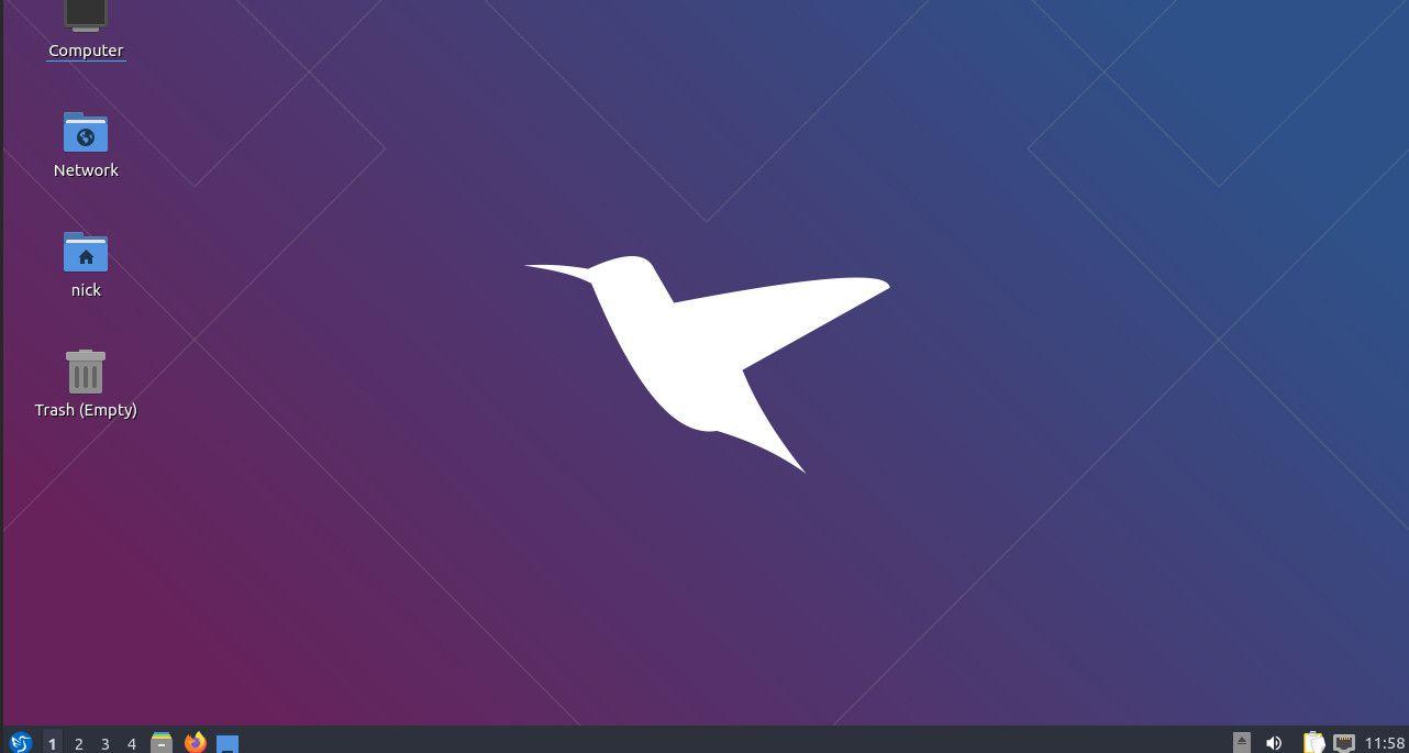Lubuntu default desktop