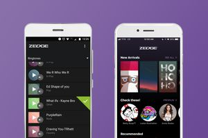 Zedge app on android and iphone