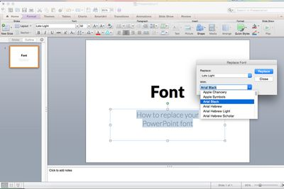 presenter tips using fonts in powerpoint