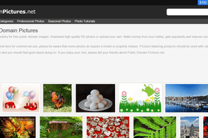 Public Domain Pictures screenshot
