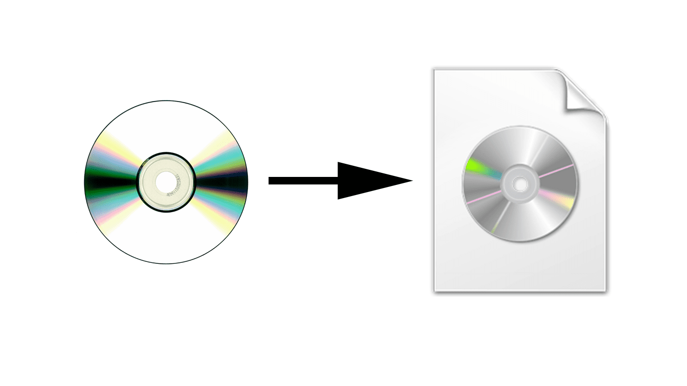 Image of DVD disc and an ISO Image file