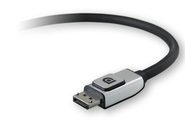 An example of a DisplayPort cable
